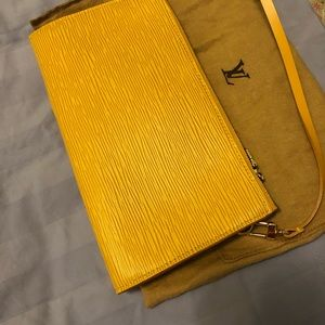 Louis Vuitton Bags - Louis Vuitton Pochette Epi leather clutch